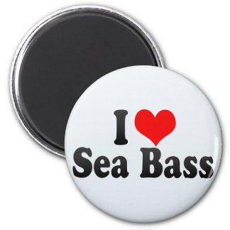 I Love Sea Bass Fridge Magnets