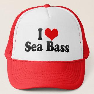 I Love Sea Bass Trucker Hat
