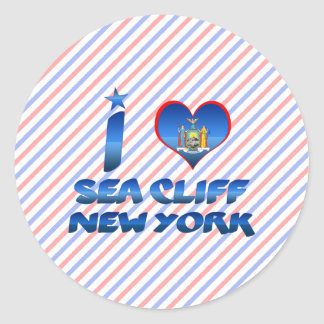 I love Sea Cliff New York Round Sticker