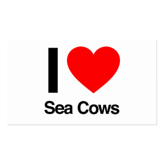i love sea cows business card