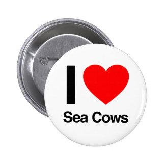i love sea cows button