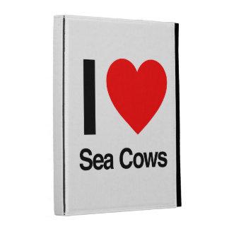 i love sea cows iPad cases