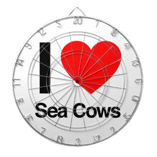 i love sea cows dart board