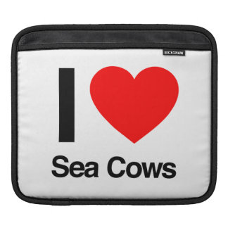 i love sea cows iPad sleeves