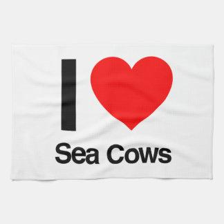 i love sea cows towels