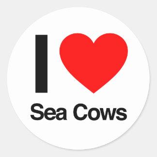 i love sea cows stickers