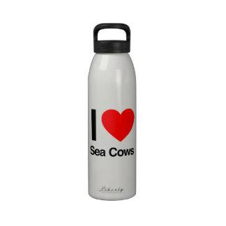 i love sea cows reusable water bottles