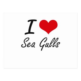 I Love Sea Gulls Postcard