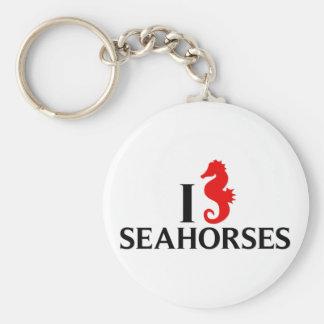 I Love Sea Horses, Seahorses Keychain