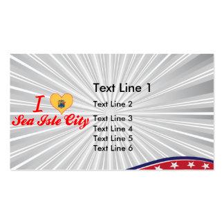 I Love Sea Isle City, New Jersey Business Card Template