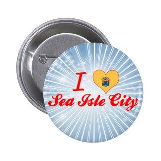 I Love Sea Isle City New Jersey Pinback Button