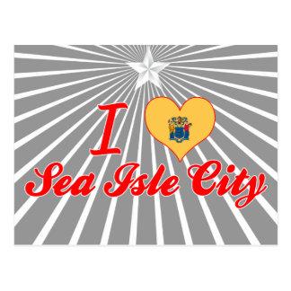 I Love Sea Isle City, New Jersey Postcard