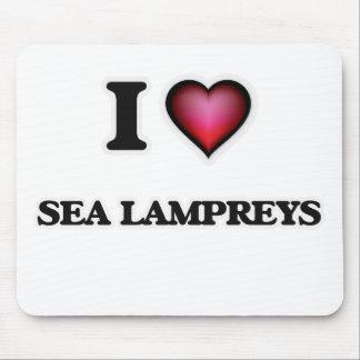 I Love Sea Lampreys Mouse Pad