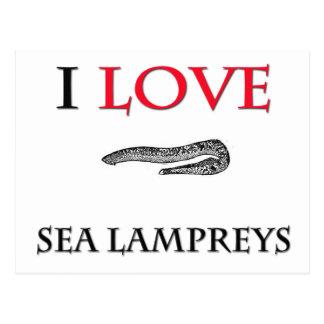 I Love Sea Lampreys Postcard