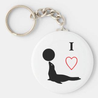 I love Sea Lions - Keychain