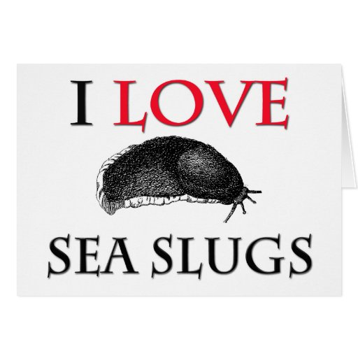 I Love Sea Slugs Greeting Card