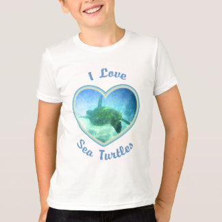 I Love Sea Turtles Kids' Shirts
