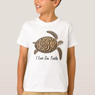 I Love Sea Turtles Kids T-Shirt