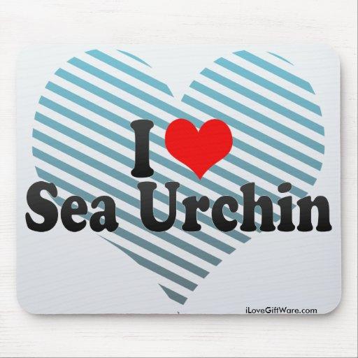 I Love Sea Urchin Mouse Pad