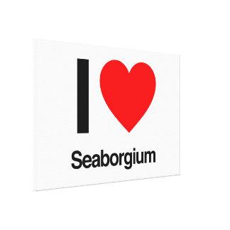 i love seaborgium stretched canvas print