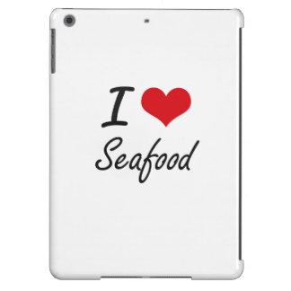 I Love Seafood artistic design iPad Air Cover