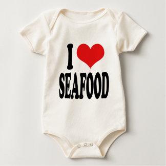I Love Seafood Baby Bodysuit