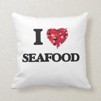 I Love Seafood food design Pillows