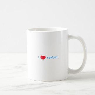 I Love Seafood Logo Classic White Coffee Mug
