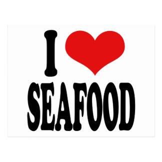 I Love Seafood Postcard