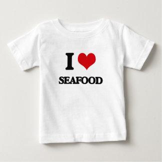 I Love Seafood Tee Shirt