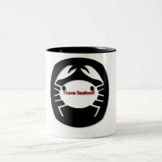 I Love Seafood! Two-Tone Coffee Mug