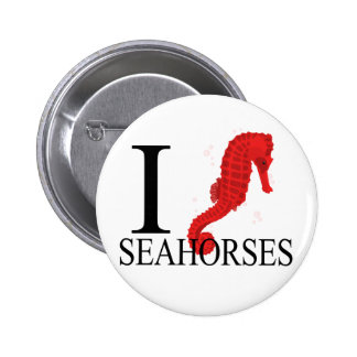 I Love Seahorses Buttons