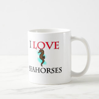 I Love Seahorses Classic White Coffee Mug