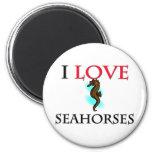 I Love Seahorses Magnet