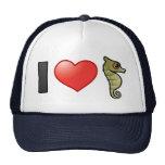 I Love Seahorses Mesh Hats