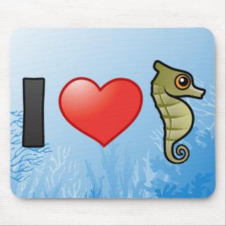 I Love Seahorses Mouse Pad