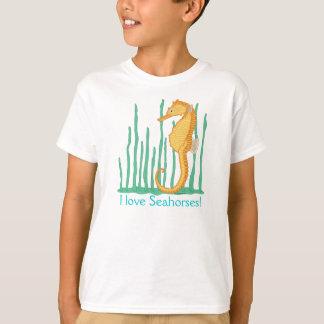 I Love Seahorses Orange Seahorse T-Shirt