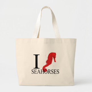 I Love Seahorses Tote Bags