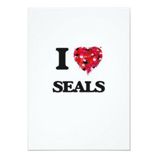 I love Seals 5x7 Paper Invitation Card