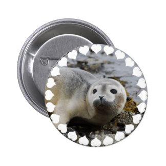 I Love Seals 2 Inch Round Button