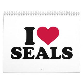 I love Seals Calendar