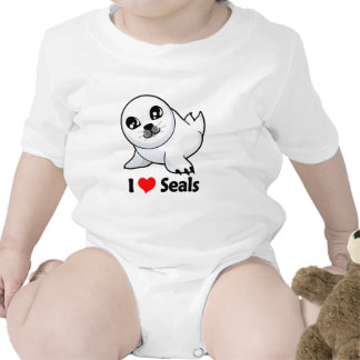 I Love Seals Bodysuits