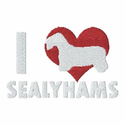 I Love Sealyhams Embroidered Shirt (Long Sleeve)
