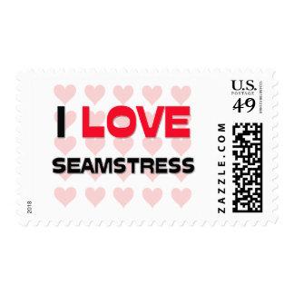 I LOVE SEAMSTRESS POSTAGE STAMPS