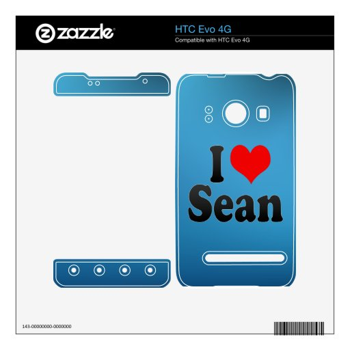 I love Sean Decal For The HTC Evo 4G