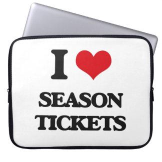I Love Season Tickets Computer Sleeve