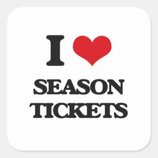 I Love Season Tickets Square Sticker