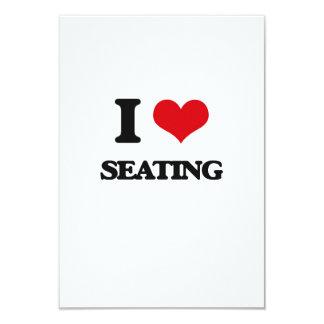 I Love Seating 3.5x5 Paper Invitation Card