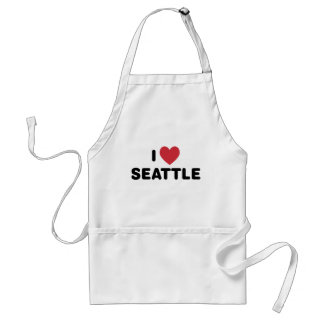 I Love Seattle Adult Apron
