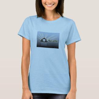 I Love Seattle-Blue T-Shirt